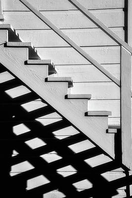 Stairs In Black And White Poster by Garry Gay