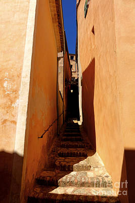 Poster featuring the photograph Stairs In Roussillon by Olivier Le Queinec
