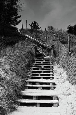 Stairs In The Dunes Poster