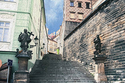Stairs To Prague Castle Poster
