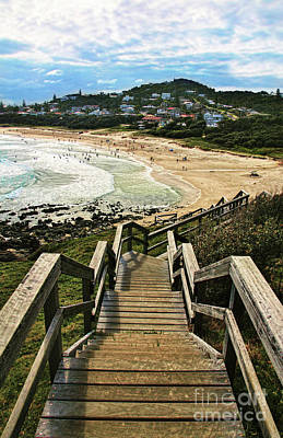 Stairway To Beach Poster