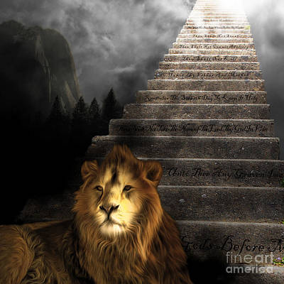 Stairway To Heaven V1 Square Poster by Wingsdomain Art and Photography