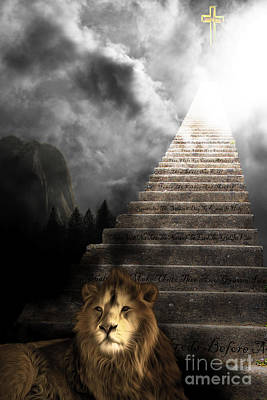Stairway To Heaven V1 Poster by Wingsdomain Art and Photography