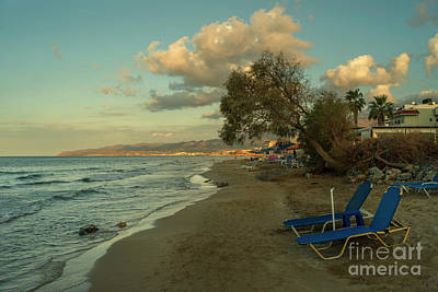 Stalida Beach Lounger  Poster