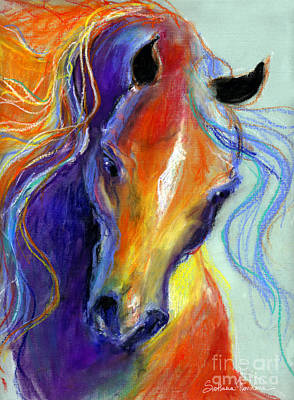 Stallion Horse Painting Poster