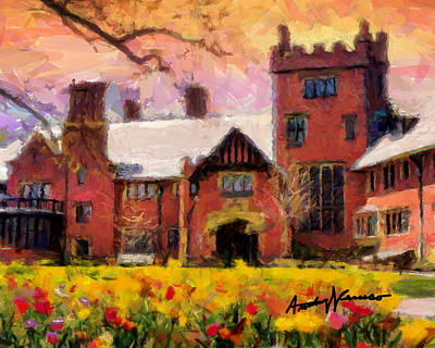Stan Hewyt Hall And Gardens Poster by Anthony Caruso