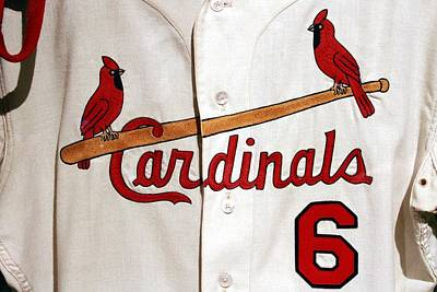 Stan Musial Final Game Jersey Poster by Christopher Miles Carter