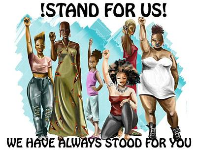 Stand For Us With Writing Poster by Terri Meredith