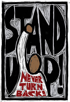 Stand Up Poster by Ricardo Levins Morales
