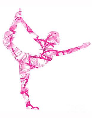 Yoga Pose Asana Standing Bow Pose Poster
