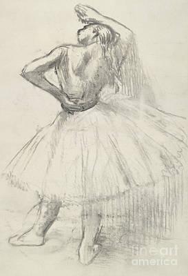 Standing Dancer, Right Arm Raised Poster by Edgar Degas