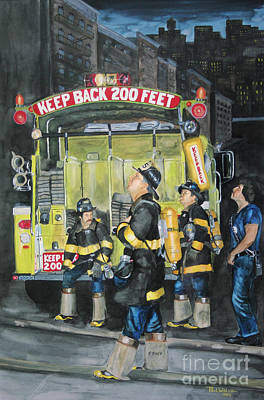 Standing Fast-engine 75 Poster by Paul Walsh