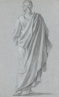 Standing Figure Viewed From Behind Poster