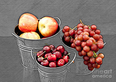 Poster featuring the photograph Standing Out As Fruit by Sherry Hallemeier