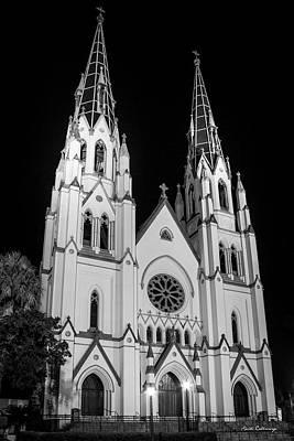 Standing Tal B Wl Cathedral Of St John The Baptist Historic Savannah Georgia Art Poster
