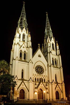 Standing Tall Cathedral Of St John The Baptist Historic Savannah Georgia Art Poster