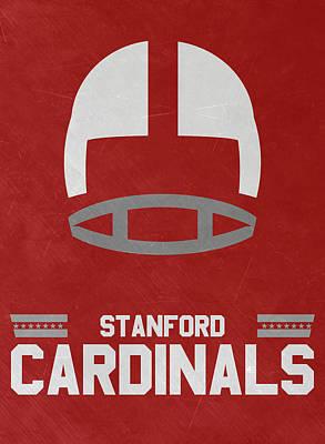 Stanford Cardinals Vintage Football Art Poster by Joe Hamilton