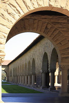Stanford Memorial Court Arches I Poster by Linda Dunn