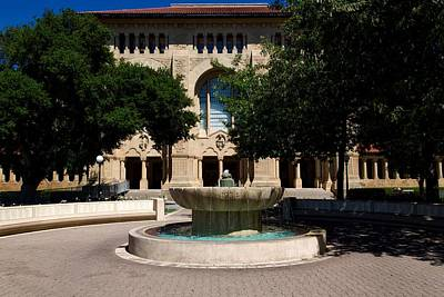 Stanford University Fountain Poster