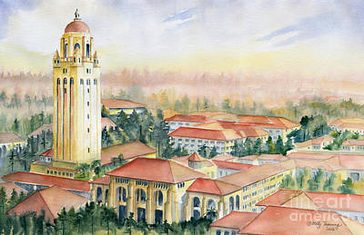 Stanford University California Poster by Melly Terpening