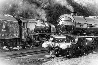 Stanier Pacifics At Swanwick Poster