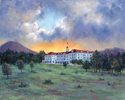 Stanley Hotel Sunset Poster