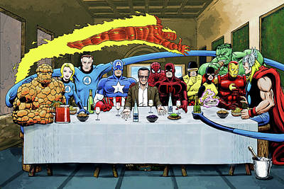Stans Super Supper Poster by Dan Avenell