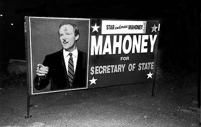 Star Endorses Mahoney Poster Defaced With Swastika Tucson Arizona Poster