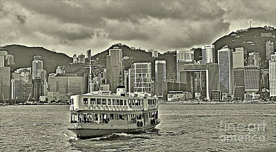 Star Ferry In Hong Kong Poster by Joe  Ng