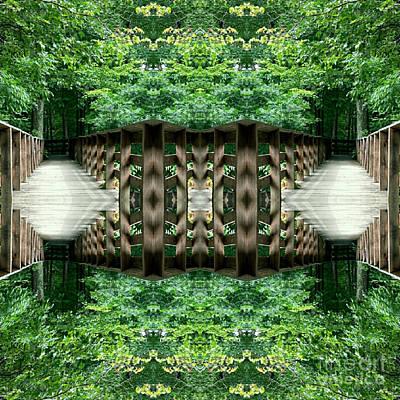 Star Gate Deep Forest  Poster by Scott D Van Osdol