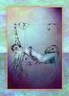 Poster featuring the painting Star Mermaid by Ragen Mendenhall