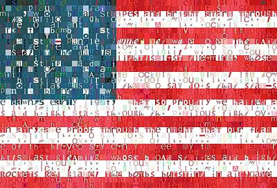 Star Spangled Banner American Flag Poster by Dan Sproul