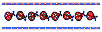 Star-spangled Lady Bugs Poster by Methune Hively