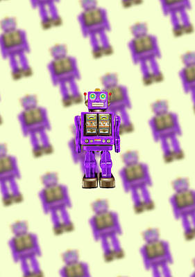 Poster featuring the photograph Star Strider Robot Purple Pattern by YoPedro