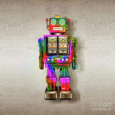 Star Strider Robot Tie Dye Poster by YoPedro