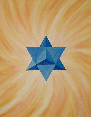 Star Tetahedron Poster by Silvia Flores