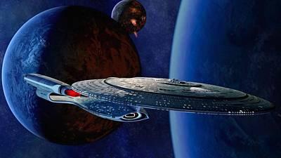 Star Trek Enterprise Ncc1701d Galaxy                  Poster by F S