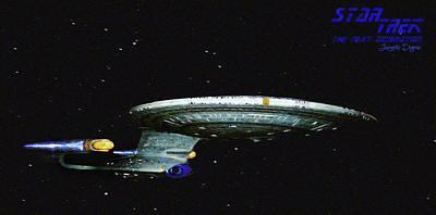 Star Trek The Next Generation Poster by Leonardo Digenio