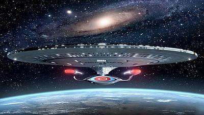 Star Trek Uss Enterprise                   Poster by F S