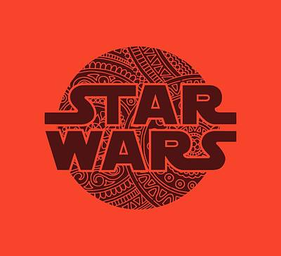 Star Wars Art - Logo - Red 02 Poster
