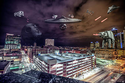 Poster featuring the photograph Star Wars Detroit by Nicholas Grunas