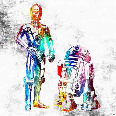 Star Wars Droids Grunge Poster