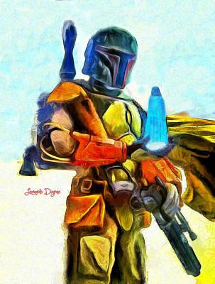 Star Wars Execute The Order  - Van Gogh Style -  - Da Poster by Leonardo Digenio