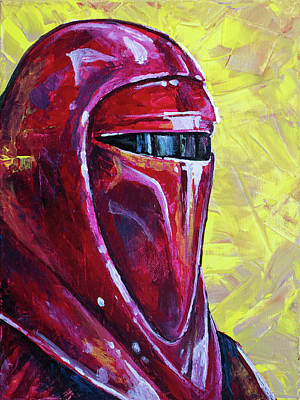 Poster featuring the painting Star Wars Helmet Series - Imperial Guard by Aaron Spong