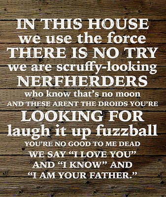Star Wars Home Quotes Parody Humor Poster