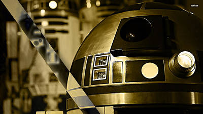 Star Wars R2d2 Collection Poster by Marvin Blaine