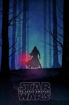 Star Wars - The Force Awakens Poster by Farhad Tamim