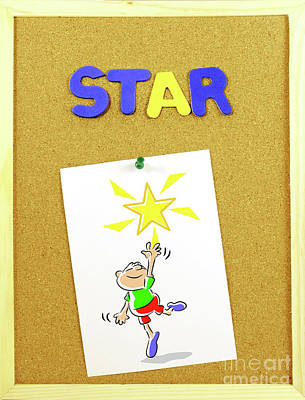 Star Word On A Corkboard Poster
