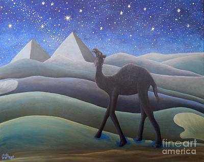 Stargazer On The Dunes Poster