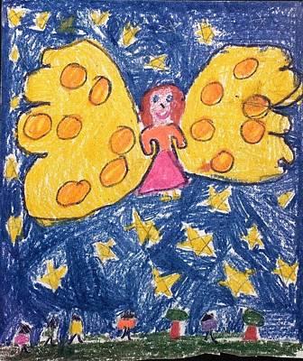 Starlight Angel Poster by Susan Olin-Dabrowski